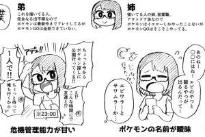 ポケモンGOを遊ぶ姉(26)